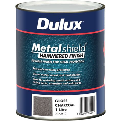 dulux metalshield 1l hammered finish charcoal ebay