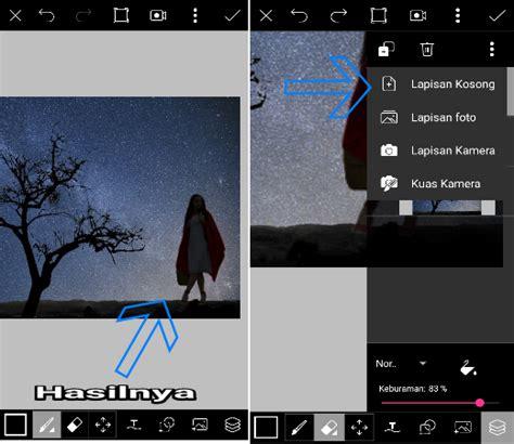 tutorial edit foto di picsart android tutorial edit foto siluet milky way di picsart android