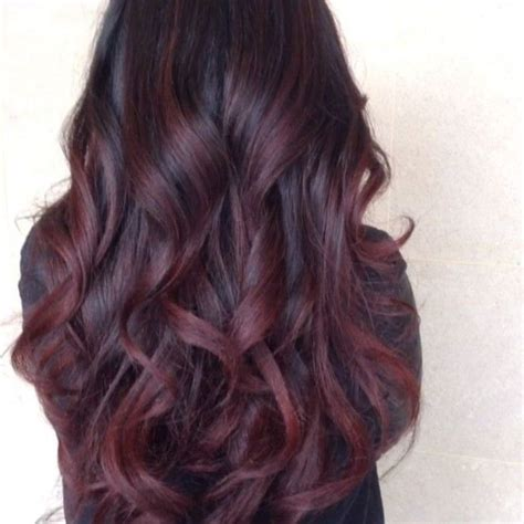 steps to doing burgundy hair with brown and caramel highlights deep burgundy plumb with a hint of purple maybe try this