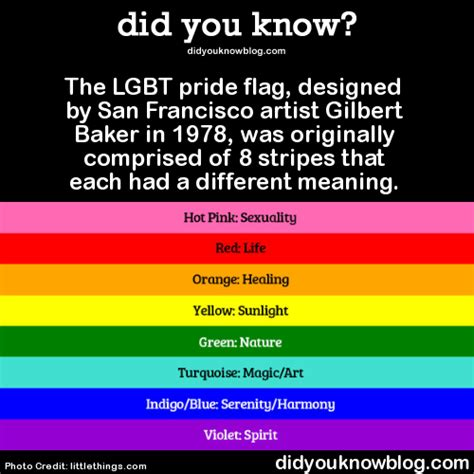 did you know?   A Pictorial History Of The LGBT Pride Flag