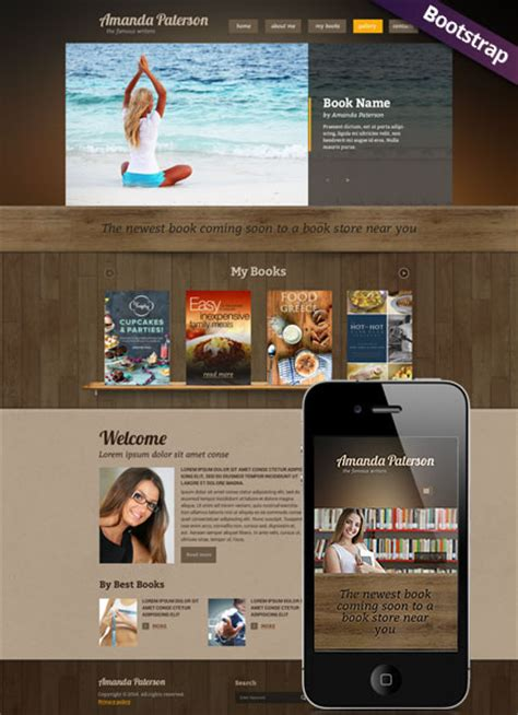 Amanda Paterson Book Writer Responsive Html Website Template Best Website Templates For Writers