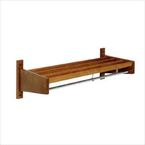 wall mounted coat rack in wood slat wall mounted coat rack by magnuson