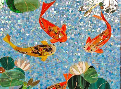 Mosaic Koi Pattern | koi pond mosaic google search stained glass mosiac