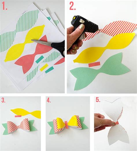 Make A Bow With Paper - how to make a bow out of paper tutorial free printable