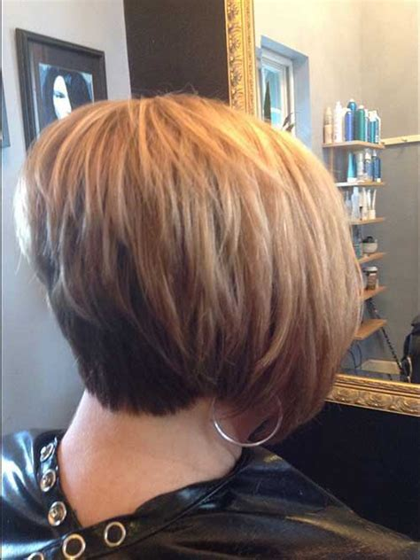 layered stack bob popular stacked bob haircut pictures short hairstyles
