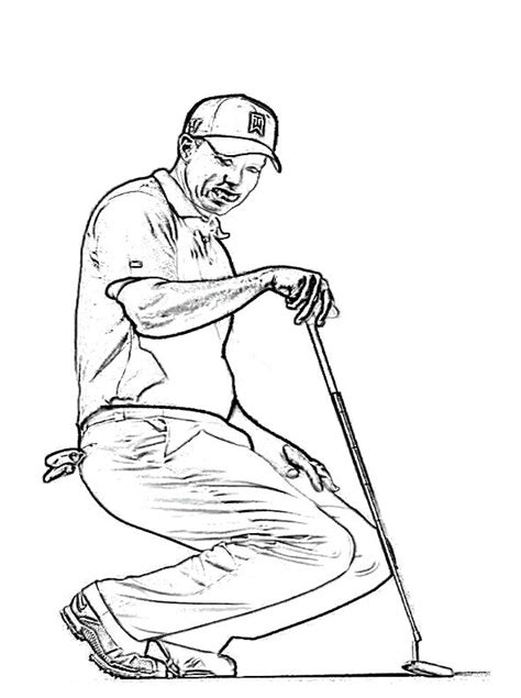 tiger woods coloring page tiger woods coloring page free images