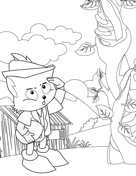 Jack And The Beanstalk Coloring Pages Az Coloring Pages And The Beanstalk Coloring Page