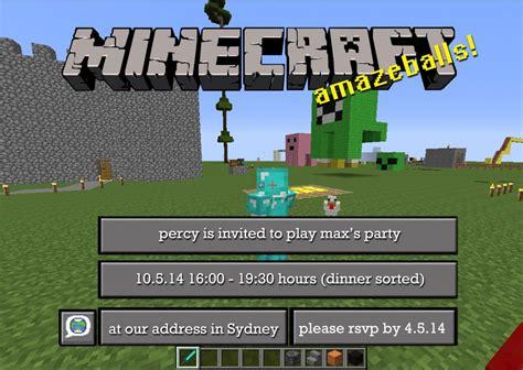 unique minecraft birthday invitation template photo best