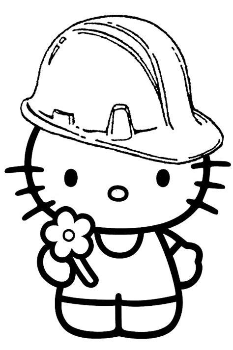 hard hello kitty coloring pages free coloring pages of hard hat