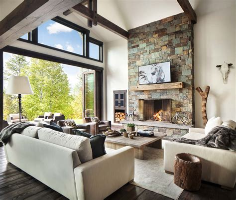 Rustic Modern Dwelling Nestled In The Northern Rocky Mountains Rustic Modern Interior Design