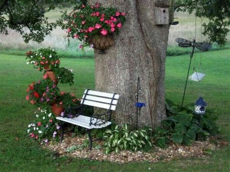 flower bed around tree fascinating flower beds around tree ideas for your yard
