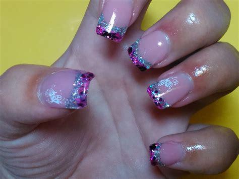 imagenes uñas bonitas u 241 as de gel plata y fucsia nail gel pink silver youtube
