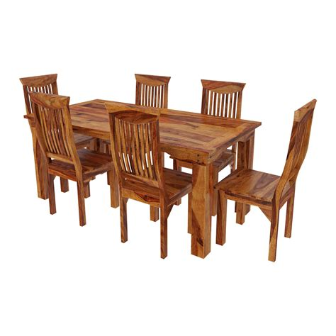 Rustic Dining Table Sets Idaho Modern Rustic Solid Wood Dining Table Chair Set