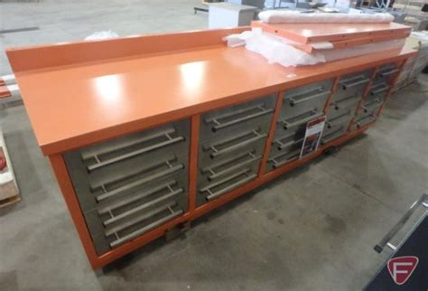heavy duty steel work benches 20 drawer with 40 quot hangin auctions online proxibid
