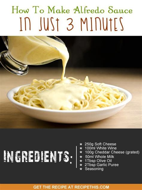 how to make alfredo sauce in just 3 minutes recipe alfredo sauce cooking and one pot