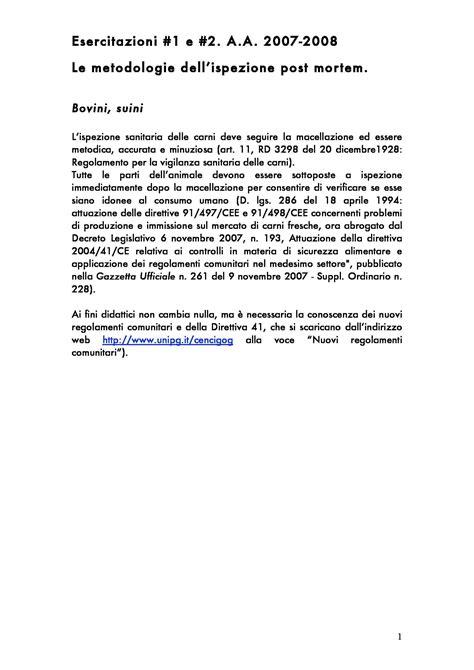 economia sanitaria dispense metodologie dell ispezione sanitaria post mortem dispense