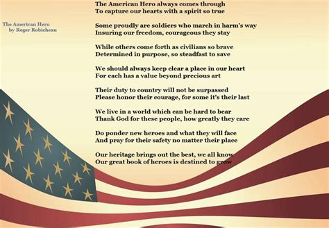 The American By Roger Robicheau The American A Poem By Roger Robicheau Veteransday Liberty And