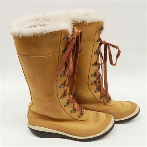 timberland timberland knee high lace up boots from