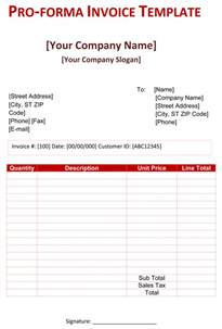 pro forma template free proforma invoice template word microsoft