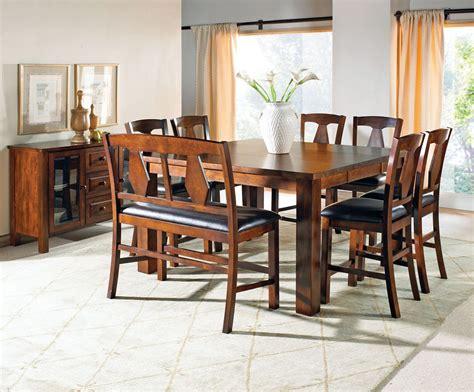 dining room set square counter height efurniture mart lakewood medium oak extendable rectangular counter height
