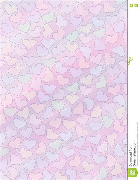 Drawn Watercolor Background With Hearts Template For Letter Or Greeting Card Stock Illustration Letter Background Template