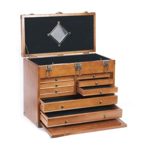 wooden tool chest wood toolmakers cabinet
