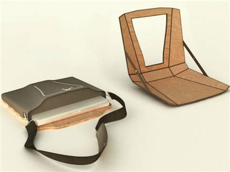 Laptop Desk For Chair by Laptop Bag That Transforms Into A Chair And Desk