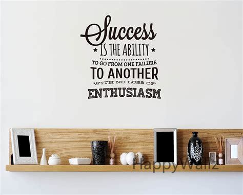 Inspirational Quotes Wall Stickers success motivational quote wall sticker enthusiasm quote
