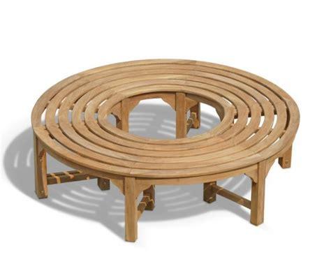 circular garden bench saturn teak circular tree bench 160cm