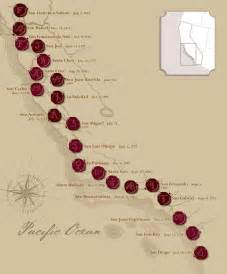 missions of california map