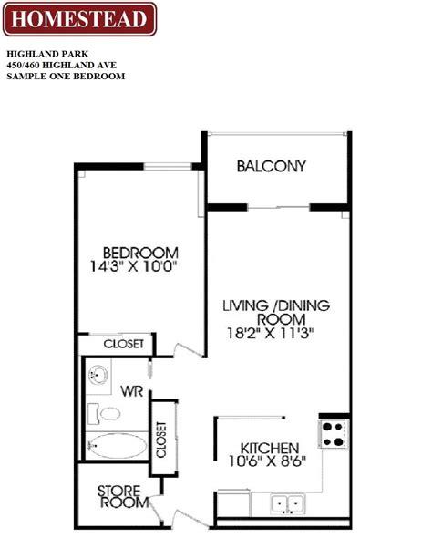 10 Highland Avenue Floor Plan - highland park apartments i ii homestead