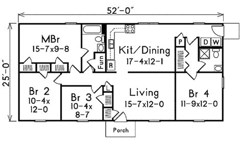 ranch house plans 1300 sq ft house plans ranch style house plan 4 beds 2 00 baths 1300 sq ft plan