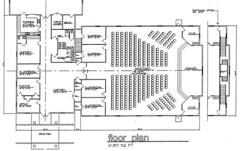 church floor plans online church plan 120 lth steel structures