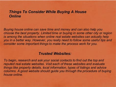 how to buy a house online things to consider while buying a house online