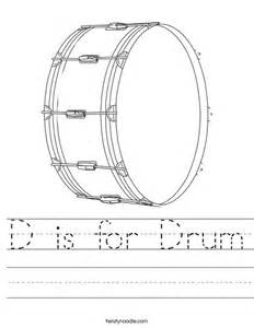 d is for drum worksheet twisty noodle