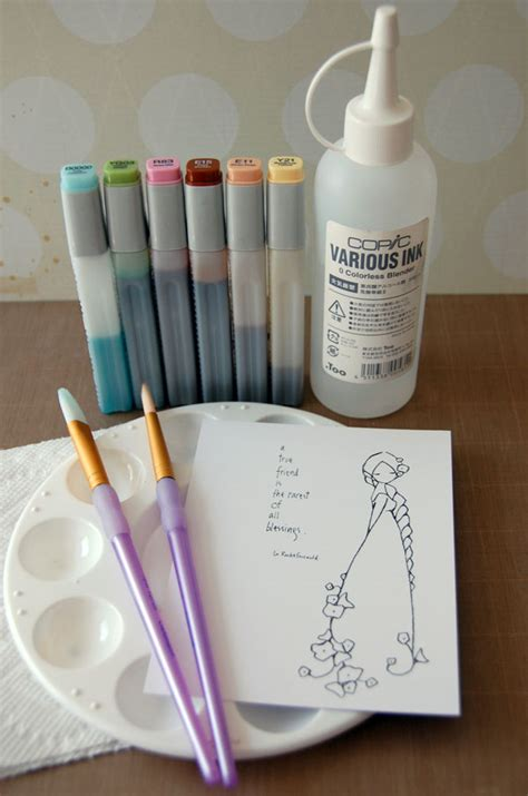 watercolor markers tutorial watercolor with markers a copic coloring tutorial on craftsy