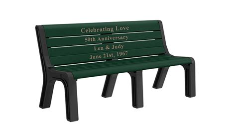 recycled plastic memorial benches modern recycled plastic memorial bench treetop products