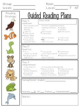 guided reading lesson plan template kindergarten guided reading lesson plan template by kindergarten is