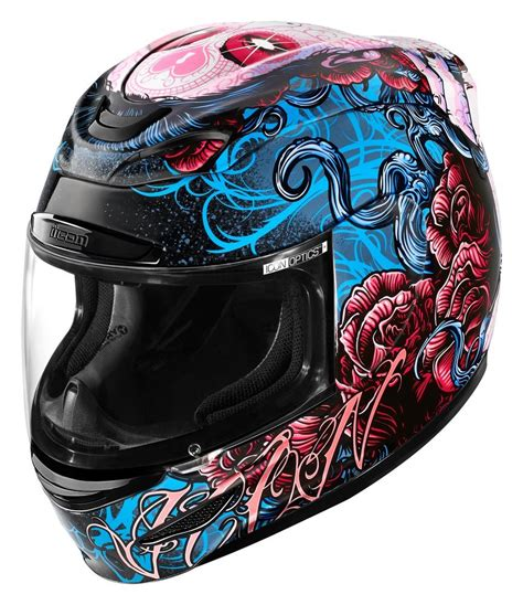 discount womens motorcycle 200 00 icon womens airmada sugar full face helmet 198755