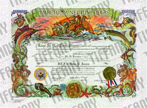 shellback certificate tiffany publishing