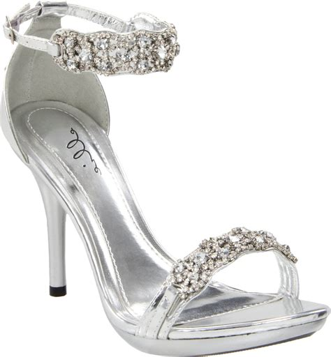 silver heels for wedding assemblage of rhinestone bridal shoes