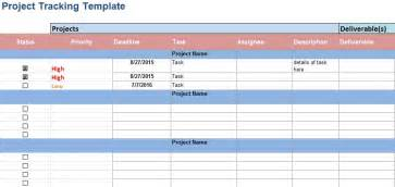 project tracking template excel 4 project tracking templates in excel