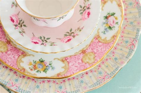 shabby chic dishes vintage china plates tea cup tea time