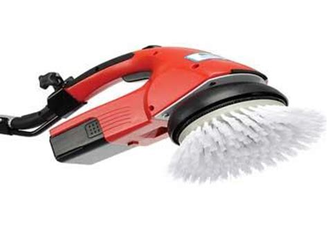 Battery Powered Hand Held Floor Scrubber   Carpet Vidalondon