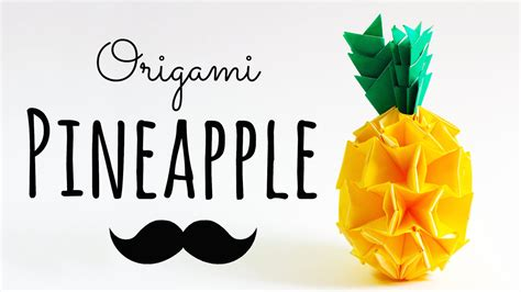 How To Make A Pineapple Out Of Paper - modular origami pineapple