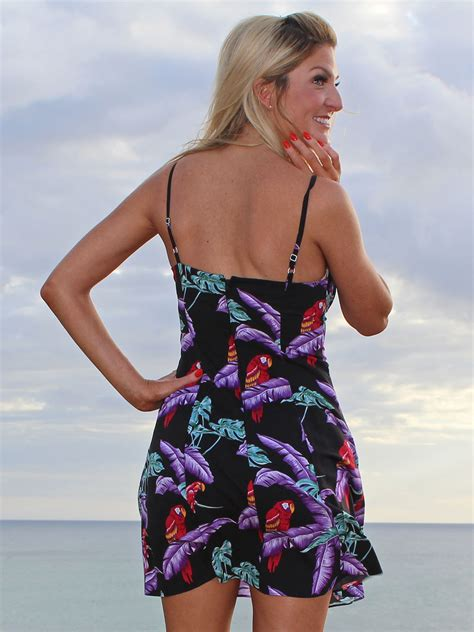 Magnum Dress jungle bird magnum pi black spaghetti dress
