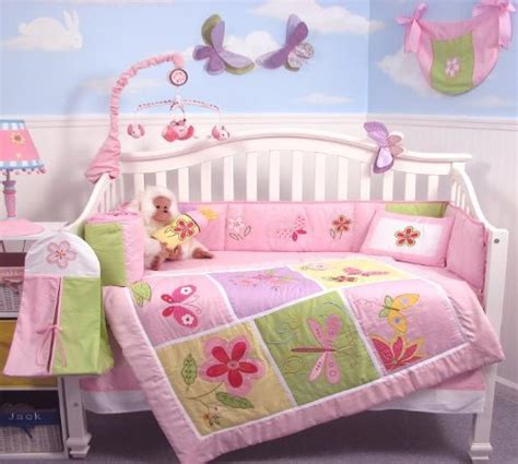 soho butterflies baby crib nursery bedding set 13