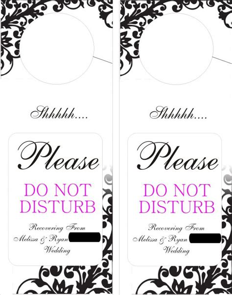 door hangers do not disturb weddingbee photo gallery