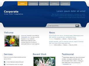 corporate free website template free css templates