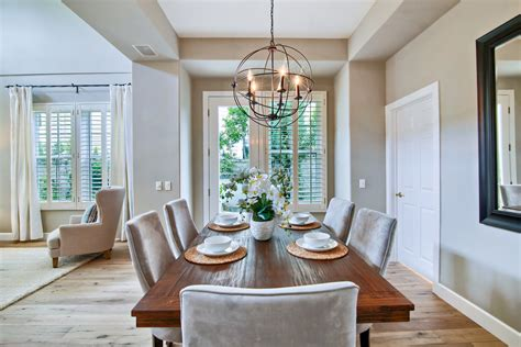 casual contemporary style home staging design  white
